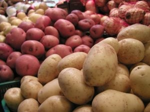 potatoes, onions